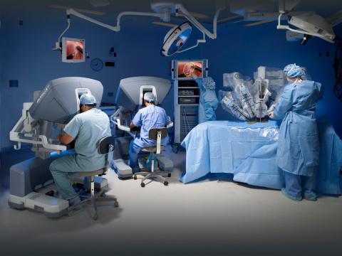 The da Vinci® surgical robot.